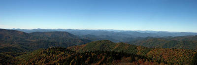 Photograph - Panorama Of The North Carolina Mountains In The Fall by Jill Lang