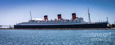 Queen Mary Photograph - Panorama Of The Queen Mary by Thomas Marchessault