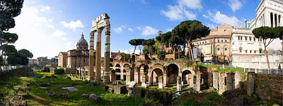 Panorama Of The Roman Forum Art Print
