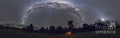Panorama Of The Southern Night Sky Art Print by Alan Dyer