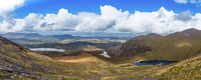 Art Print featuring the photograph Panorama Of Valleys And Mountains In County Kerry On A Summer Da by Semmick Photo