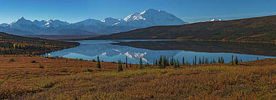 Photograph - Panorama Of Wonder Lake In Denali National Park by Brenda Jacobs