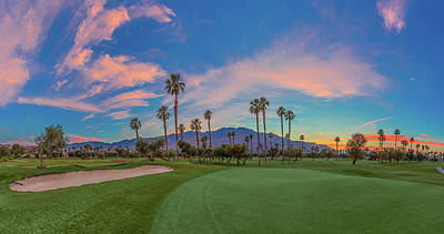 Photograph - Panorama Palm Springs Golfing by Scott Campbell