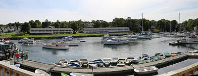 Perkins Cove Painting - Panorama Perkins Cove Maine by Imagery-at- Work
