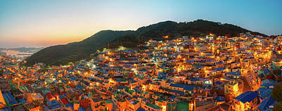 Photograph - Panorama Photo Of Gamcheon Village In Busan City by Anek Suwannaphoom
