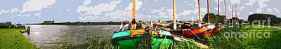 Painting - Panorama Sloten by Arie Van Garderen