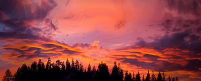 Photograph - Panorama Sunset Lake Tahoe by LeeAnn McLaneGoetz McLaneGoetzStudioLLCcom