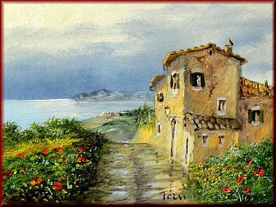Contempory Art Galleries In Italy Painting - Panorama Tuscany by Luciano Torsi