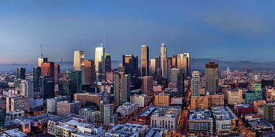 Photograph - Panorama View Of Los Angeles by Kelley King