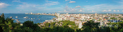 Photograph - Panorama View Pattaya by Atiketta Sangasaeng