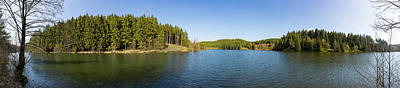 Photograph - panorama view Rappbode Auxiliary Dam , Harz  by Andreas Levi