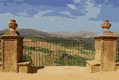 Painting - Panoramas Of Andalusia, Ronda by Andrea Mazzocchetti