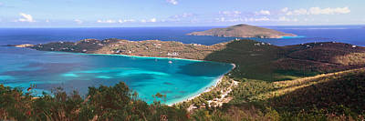 Drake Photograph - Panoramic Aerial View Of Magens Bay by George Oze