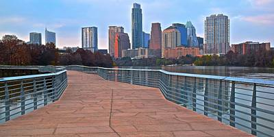 Photograph - Panoramic Austin Skyline View by Frozen in Time Fine Art Photography