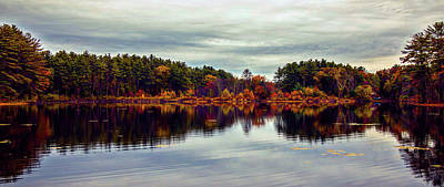 Photograph - Panoramic Autumn Landscape by Lilia D