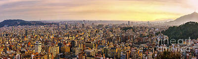 Busy Life Digital Art - Panoramic Barcelona by Svetlana Sewell