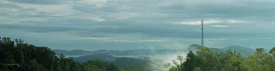 Photograph - Panoramic Blue Ridge Mountains In North Carolina 2 by Ken Figurski