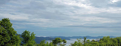 Painting - Panoramic Blue Ridge Mountains In North Carolina. by Ken Figurski