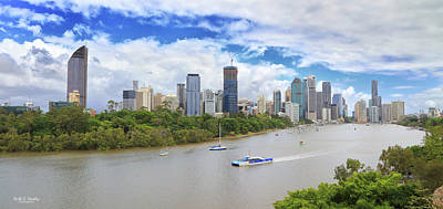 Photograph - Panoramic Brisbane by Keith Hawley