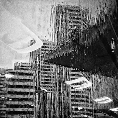 Rain Photograph - Panoramic Bus #cityscape #abstract by Rafa Rivas