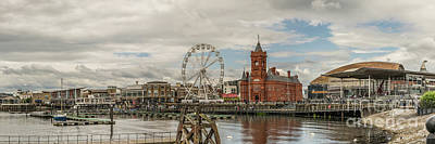 Photograph - Panoramic Cardiff Bay 1 by Steve Purnell