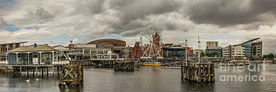 Photograph - Panoramic Cardiff Bay 2 by Steve Purnell