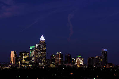 Photograph - Panoramic Charlotte, North Carolina by Serge Skiba