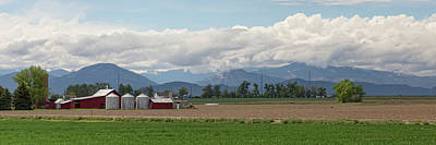 Photograph - Panoramic Colorado Agriculture Rocky Mountain Landscape by James BO Insogna