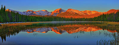 Photograph - Panoramic Dawn At Bierstadt Lake by Greg Norrell