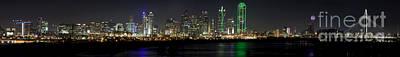 Panoramic Downtown Dallas, Texas Art Print