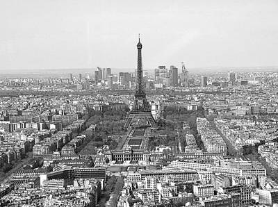 Photograph - Panoramic Eiffel Tower by Louise Fahy