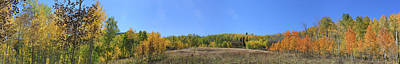 Photograph - Panoramic Fall Colors Vista by Jeff Schomay