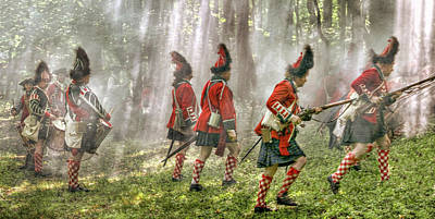 Panoramic French And Indian War Battle Art Print by Randy Steele