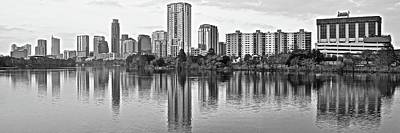 Photograph - Panoramic Grayscale Of Austin by Frozen in Time Fine Art Photography