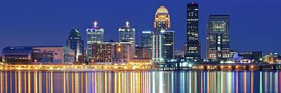 Photograph - Panoramic Louisville Lights by Frozen in Time Fine Art Photography