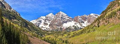 Photograph - Panoramic Maroon Bells Peaks by Adam Jewell