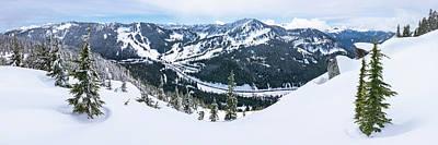 Photograph - Panoramic Mountain Top View Of Popular Washington Resort by Open Range