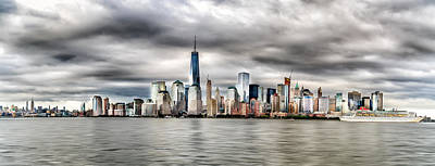 Photograph - Panoramic New York City by Rafael Quirindongo