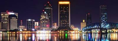 Photograph - Panoramic Night In Jacksonville by Frozen in Time Fine Art Photography