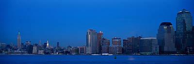 Empire State Photograph - Panoramic Night View Of Empire State by Panoramic Images