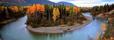 Park Scene Digital Art - Panoramic Northern River by Mark Duffy