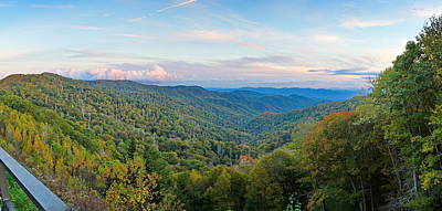 Photograph - Panoramic October Views Of Smokey Mountain National Park by Simply  Photos