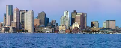Panoramic Of Boston Harbor Art Print by Panoramic Images