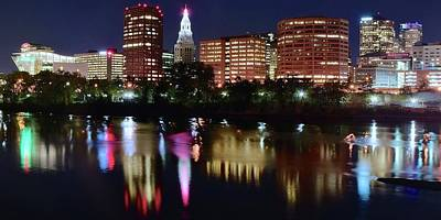 Photograph - Panoramic Of Hartford Connecticut by Frozen in Time Fine Art Photography