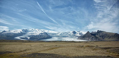Photograph - Panoramic Of Icelandic Glacier by Jack Nevitt