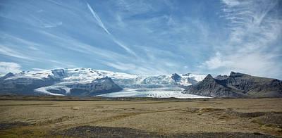 Photograph - Panoramic Of Icelandic Glacier by Jack Nevitt