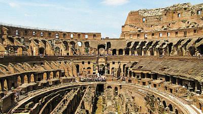 Inside The Colosseum Art Print