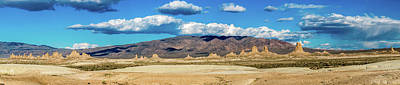 Farm Life Paintings Rob Moline Royalty Free Images - Panoramic of Trona Pinnacles  Royalty-Free Image by Javier Flores