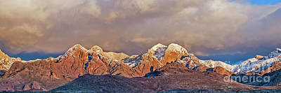 Photograph - Panoramic Organ Mountainss by Steve Whalen