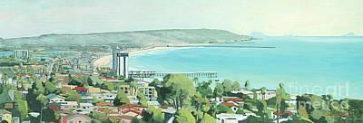Pacific Beach Painting - Panoramic Pacific Beach, San Diego, California by Paul Strahm
